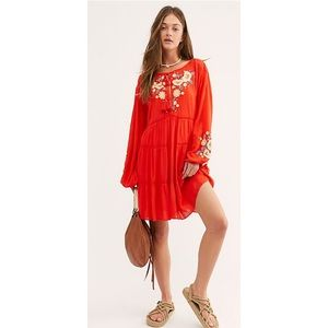 Free People Spell in Your Embroidered Mini Dress